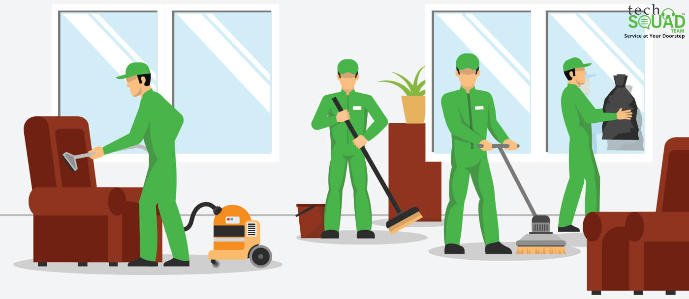What are the different components of TechSquadTeam's Deep Cleaning Services?