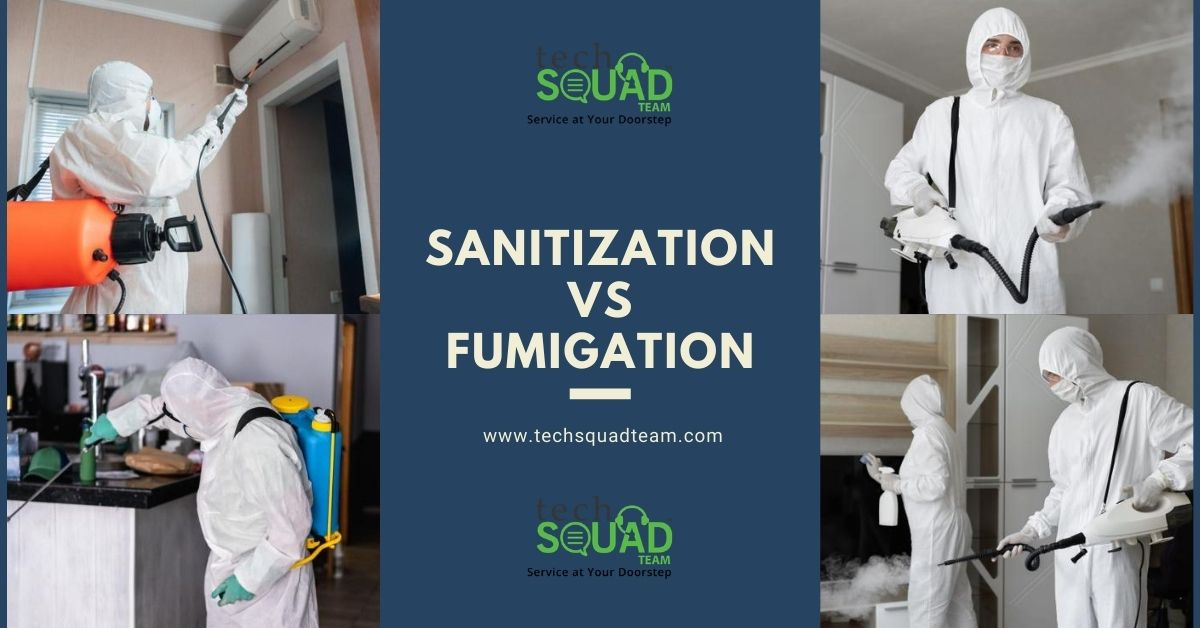What is the difference between Sanitization and Fumigation?