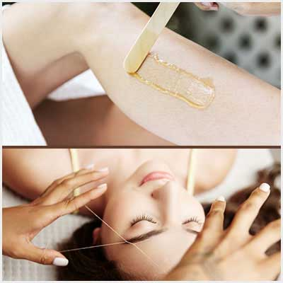 Normal Waxing & Threading Package